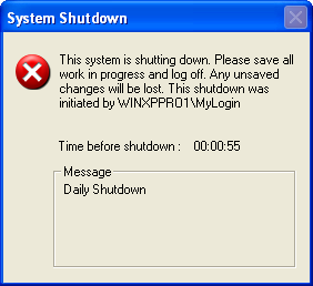 how to set shutdown timer in windows xp