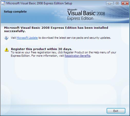 Screenshots of Visual Basic