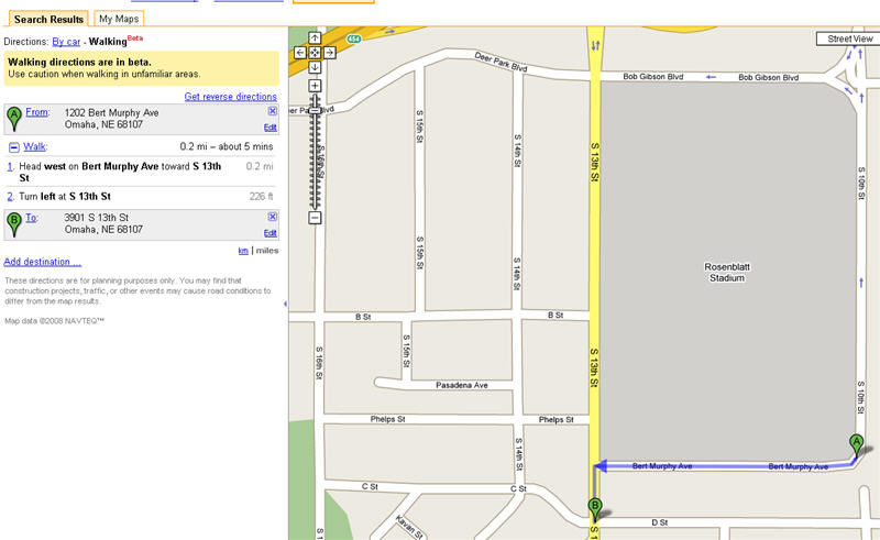 Google Maps Includes Walking Directions on google world map, maps driving directions, google mapss, bing maps walking directions, maps and directions, map for directions,