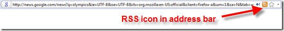 google-rss-address-bar