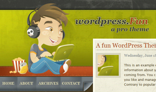 four wordpress themes and two wordpress plugins go into a bar